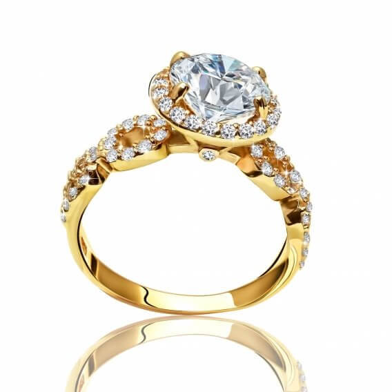 טבעת יהלומים מעוטרתבעיצוב מיוחד 1.57 קראט  דייזי SD 126