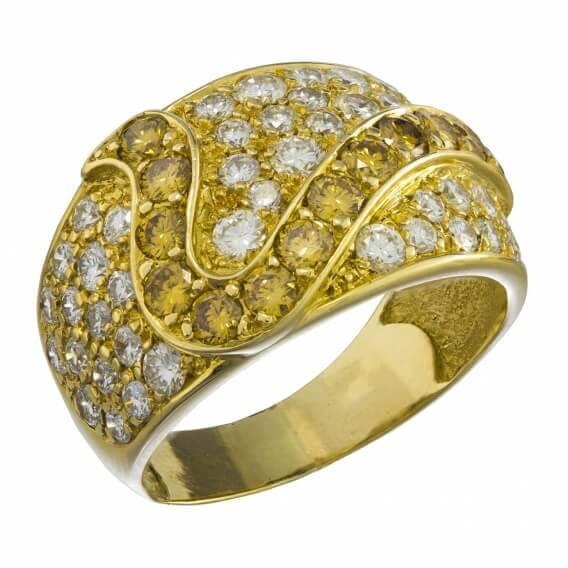 טבעת יהלומים מעוטרת זהב בעיצוב מיוחד 1.12 קראט - סטייסי