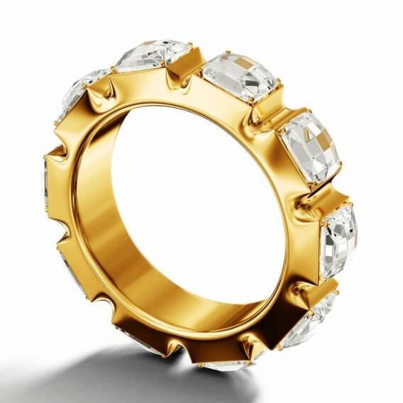 טבעת יהלומים מעוצבת זהב צהוב 1.02 קראט מומנטו