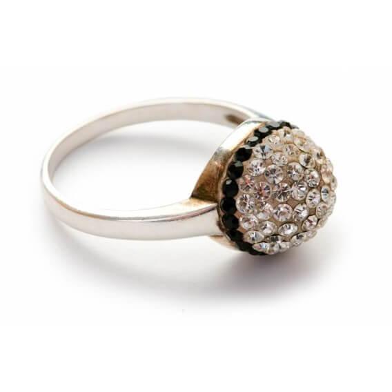 טבעת יהלומים מעוצבת מעוטרת זהב צהוב 1.38 קראט פלין
