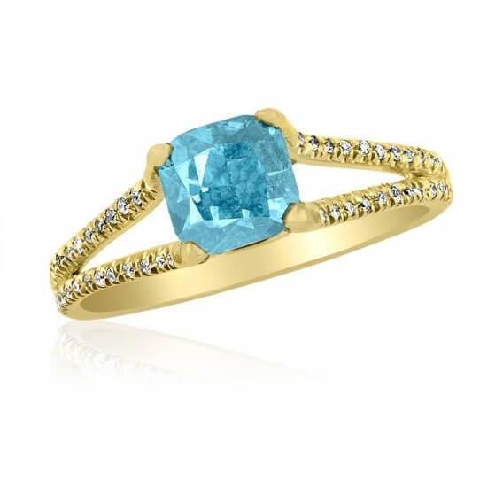 טבעת יהלומים מעוצבת סקיילר 1.54 קראט זהב צהוב