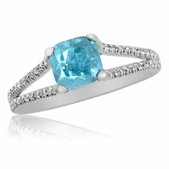 טבעת יהלומים מעוצבת 1.50 קראט זהב לבן