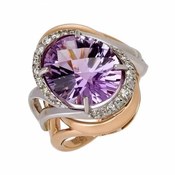 טבעת יהלומים עם אבן חן מרכזית גדולה 1.22 קראט - בלה