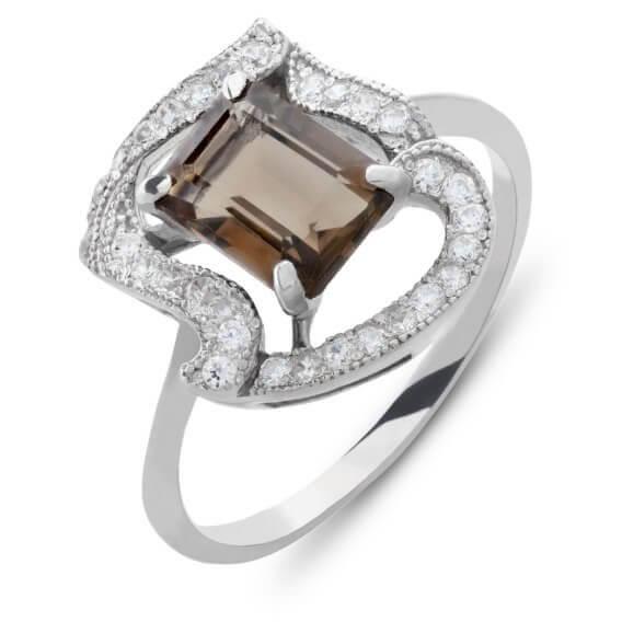 טבעת יהלומים עם אבן חן מרכזית 1.21 קראט - ג'ולין