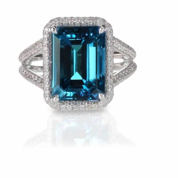 טבעת יהלומים עם אבן חן מרכזית 2.06 קראט - ג'סיקה