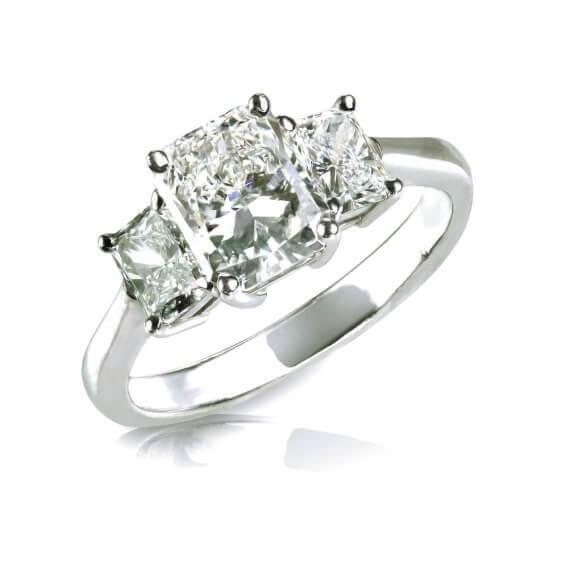 טבעת יהלומים קלאסית בשילוב זהב לבן דניה 1.01 קראט