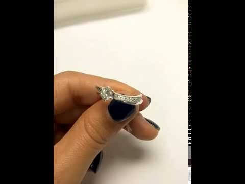טבעת יהלומים קלאסית בשילוב זהב לבן 235-SD