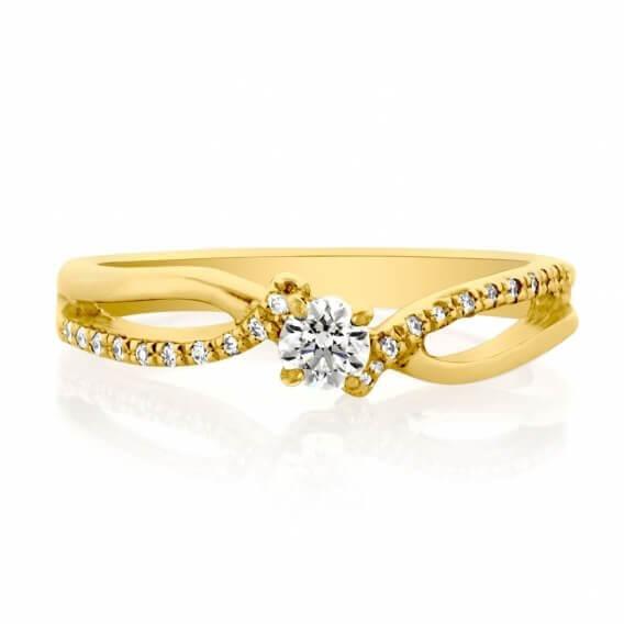 טבעת יהלומים קלאסית אליאנה  232 SD