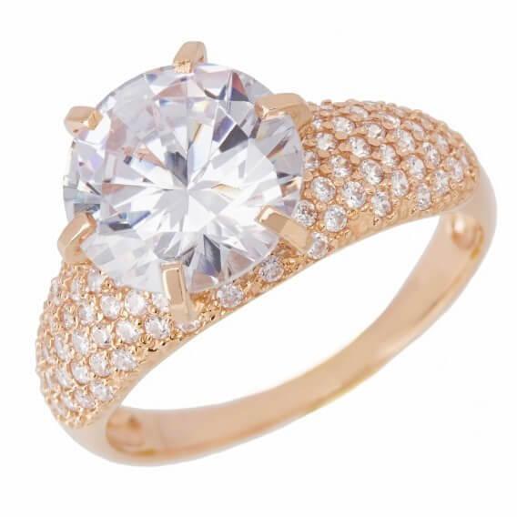 טבעת אירוסין יוקרתית מפוארת בשיבוץ יהלומים וזהב 2.28 קראט - דסטיני