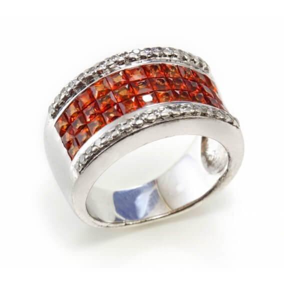 טבעת לגבר יהלומים ואבני חן פליים 1.45 קראט