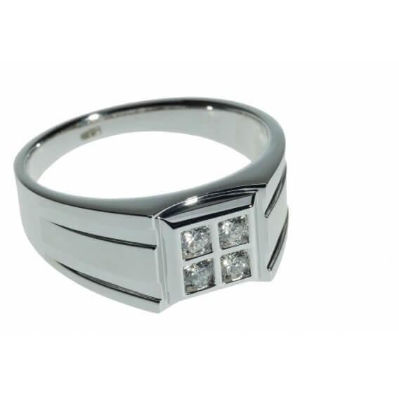 טבעת מיוחדת לגבר משובצת ביהלומים 0.26 קראט - ליאם