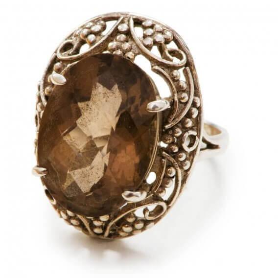 טבעת לגבר מעוצבת עם אבן חן מרכזית 2.52 קראט - סאמי