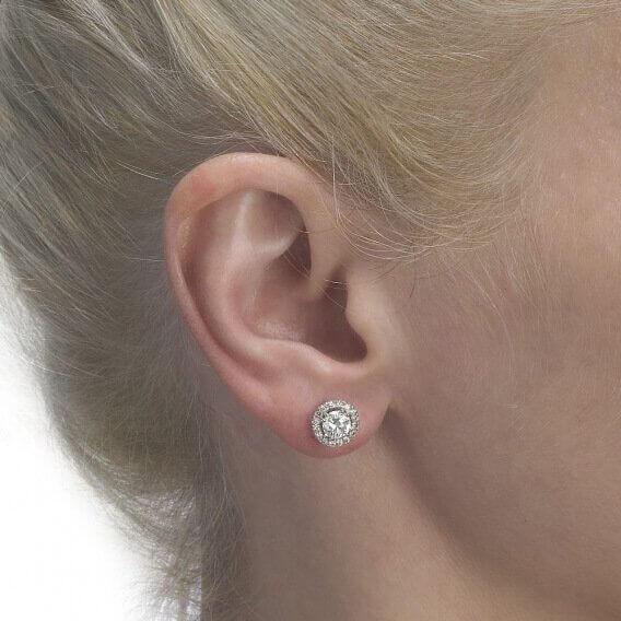 עגילי יהלום צמודים 1.02 קראט