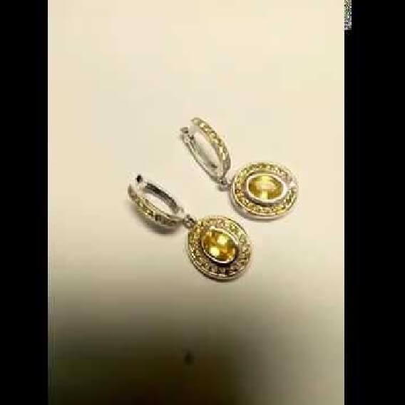 עגילי יהלומים 2 קראט וחצי - סאנסט
