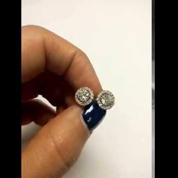 עגילי יהלומים וזהב יוקרתיים 1.02 קראט שרונה