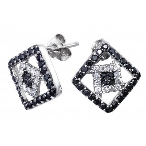 עגילי יהלום צמודים אלינה SD 228