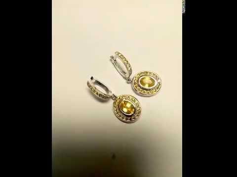 עגילי יהלומים צבעוניים בעיצוב מיוחד 2.55 קראט סאנסט