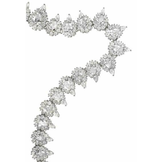 צמיד טניס יהלומים בשילוב אבני חן מרקיזה