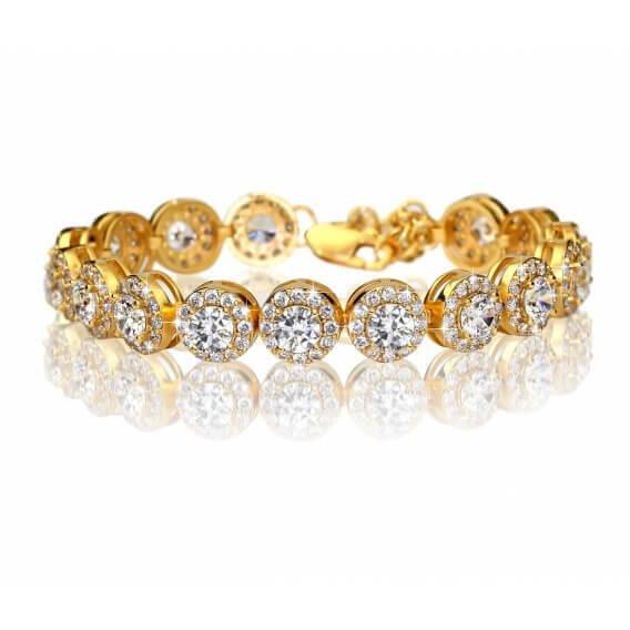 צמיד טניס יהלומים זהב צהוב- סלנה