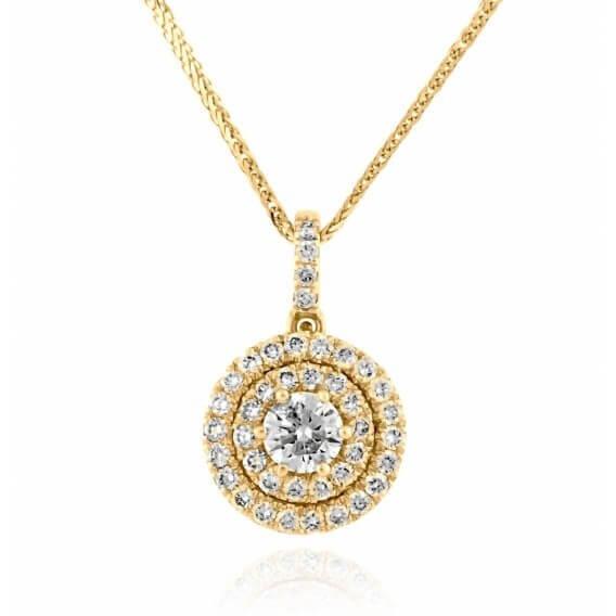 שרשרת יהלומים יוקרתית 74 נקודות אינפיניטי זהב צהוב