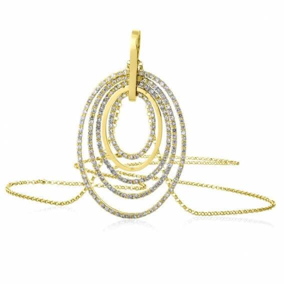 תליון יהלומים בעיצוב מיוחד דיוויין 2.05 קראט