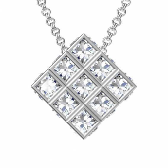 תליון קלאסי עם 9 יהלומים P100SD14