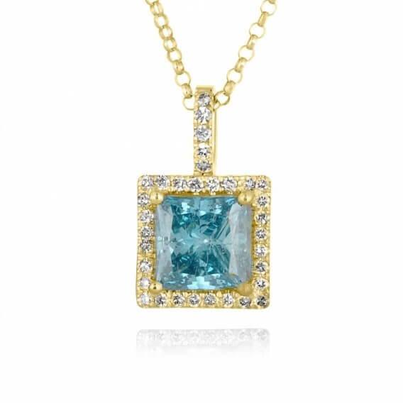 תליון יהלומים מפואר בעיצוב מיוחד 2.01 קראט ניקול