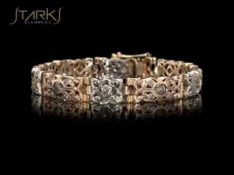 צמיד יהלומים וזהב בעיצוב מרוקאי 4.42 קראט מרוקן
