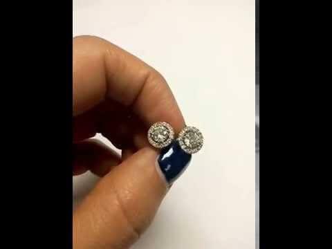 עגילי יהלומים יוקרתיים זהב לבן 1.02 קראט שרון