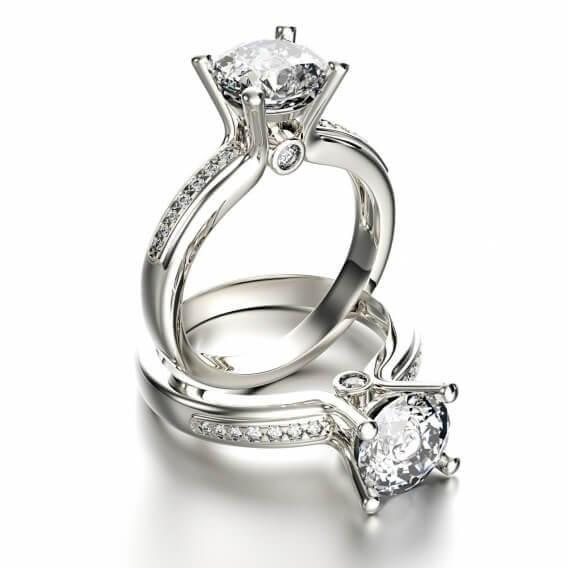 טבעת זהב יוקרתית בשיבוץ יהלומים אמארה 1.15 קראט