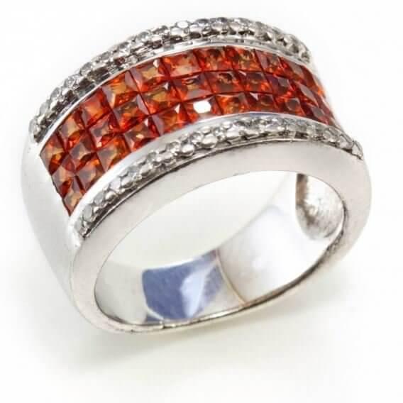 טבעת יהלומים ואבני חן פליים 1.45 קראט