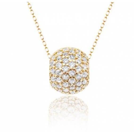 שרשרת יהלומים זהב צהוב אמה 0.62 קראט