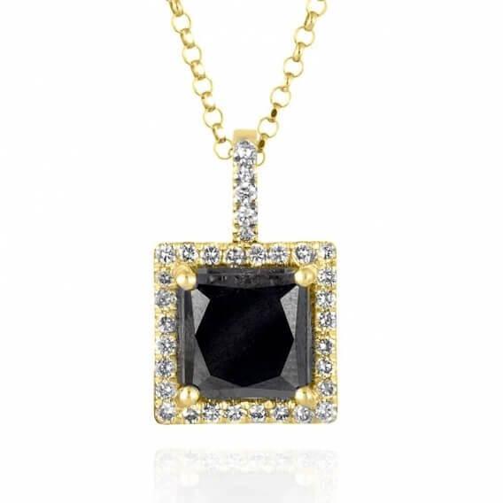 שרשרת יהלומים מפוארת בשיבוץ מעוטרת זהב 3.99 קראט ספארו