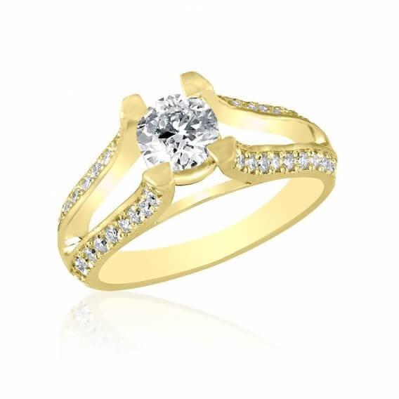 טבעת יהלום יוקרתית 1.10 קראט - אמילי