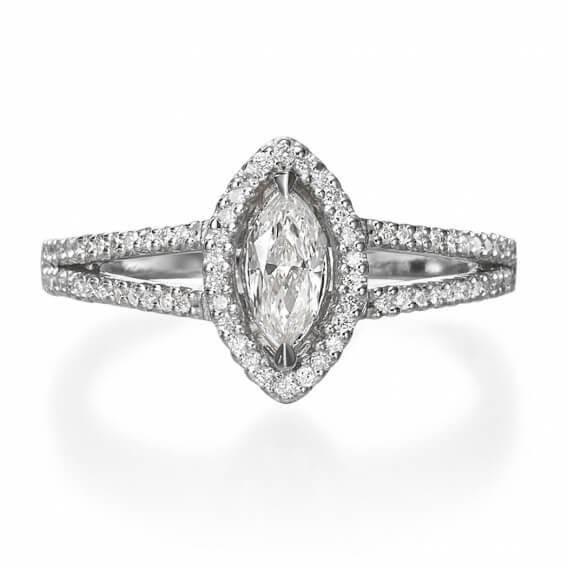 טבעת אירוסין מרקיזה 1.12 קראט אודט