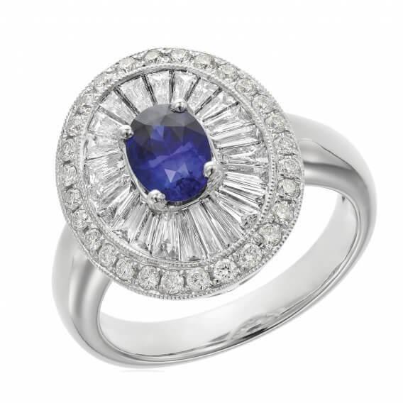 טבעת יהלומים עם אבן חן מרכזי 2.73 קראט - האנה