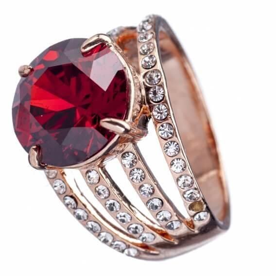 טבעת יהלומים עם אבן חן מרכזי 1.92 קראט - ויקי