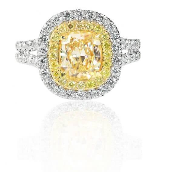 טבעת יהלומים עם אבן חן מרכזי 1.87 קראט - שריל