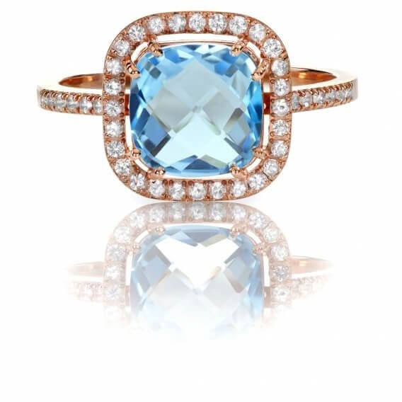 טבעת יהלומים עם אבן חן מרכזי 1.75 קראט - ריצ'ל