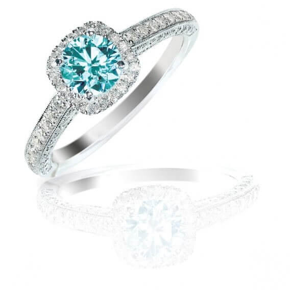 טבעת יהלומים עם אבן חן מרכזי 1.03 קראט - אנג'ל