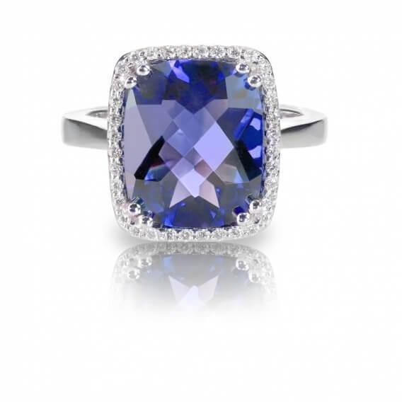 טבעת יהלומים עם אבן חן מרכזי 2.23 קראט - קלייר