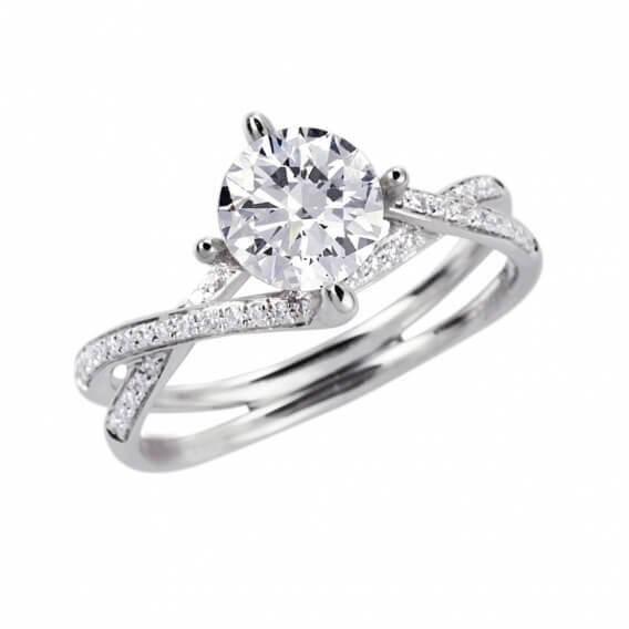 טבעת אירוסין יוקרתית 0.65 קראט - רבקה