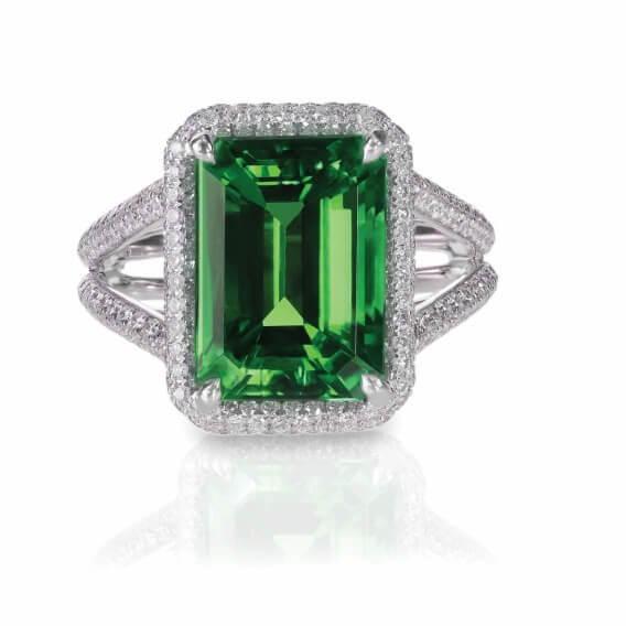 טבעת יהלומים עם אבן חן מרכזית 2.06 קראט - קלואי
