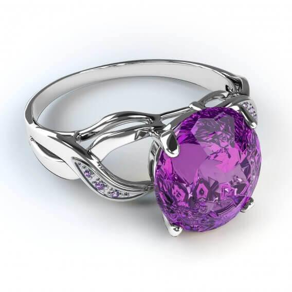 טבעת יהלומים ואבן חן 1.11 קראט יוליאנוס