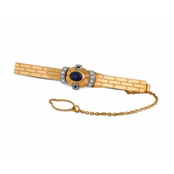 גורמט זהב ויהלומים משובץ יהלום שחור מרכזי 0.47 קראט - ג'ייסון