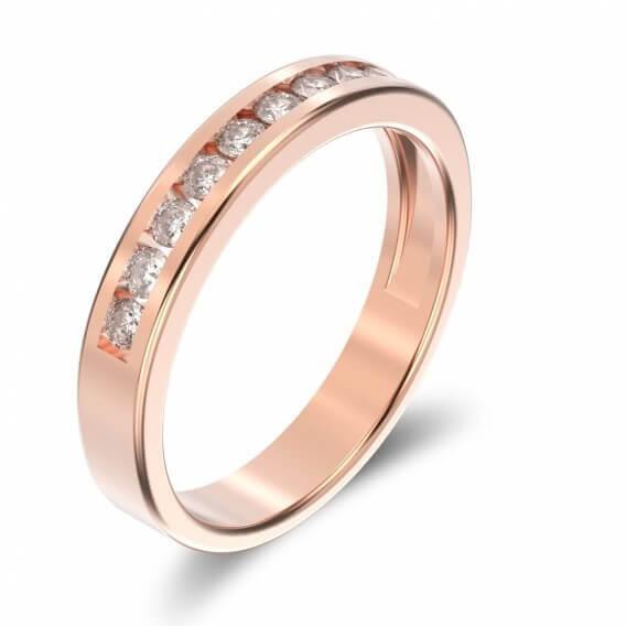 טבעת לגבר מעוצבת עם יהלומים 0.35 קראט - ניק