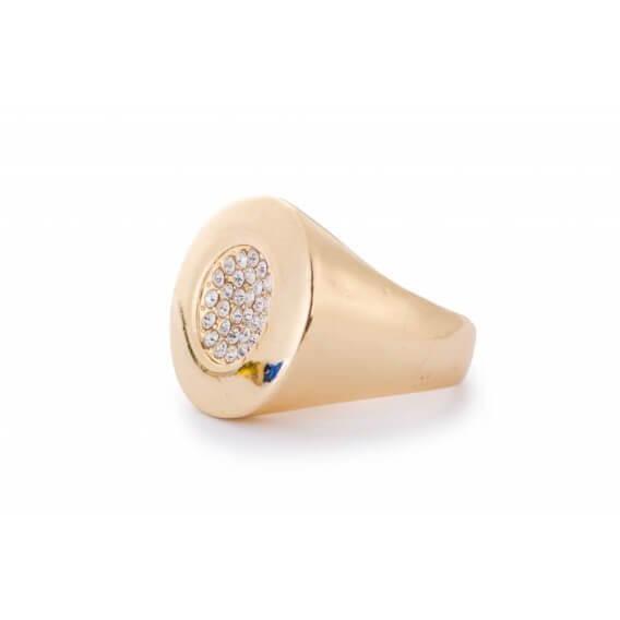 טבעת לגבר מיוחדת ומעוצבת משובצת 28 יהלומים 0.32 קראט - כריס