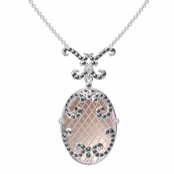 תליון מעוצב ומיוחד בשילוב יהלומים 0.85 קראט - דניאל