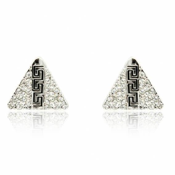 עגילי גברים בעיצוב איטלקי משובצים ב-70 יהלומים 0.85 קראט - רוברט