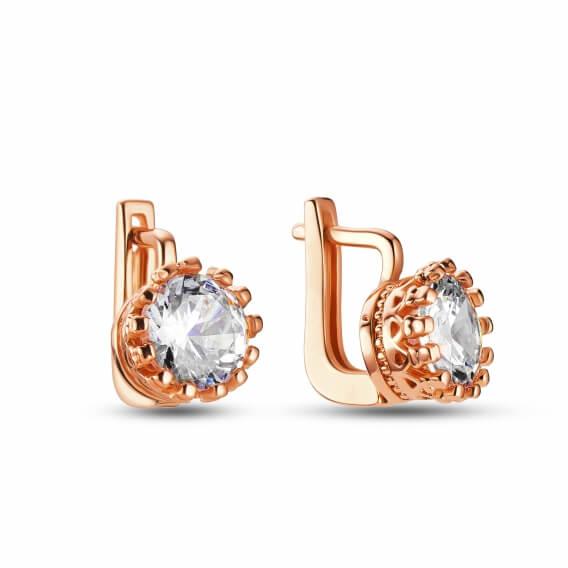 עגילי יהלומים אוולין  SD 234